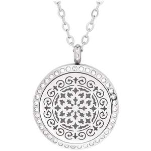 Serina & Company - Stainless Steel Siren Crystals Pendant | Aromatherapy Jewelry for Retail!