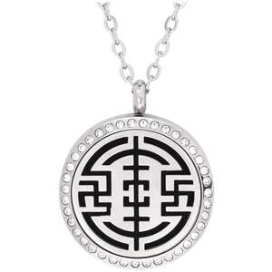 Serina & Company - Stainless Steel Orient Crystal Pendant | Aromatherapy Jewelry for Retail!