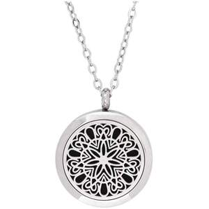 Serina & Company - Stainless Steel Circle of Love Pendant | Aromatherapy Jewelry for Retail!