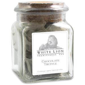 White Lion Tea - Chocolate Truffle Pu'erh Tea 12 Count Jar of Pyramid Sachets