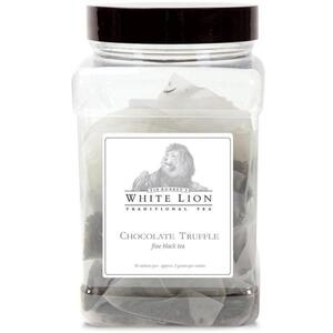 White Lion Tea - Chocolate Truffle Pu'erh Tea 50 Count Canister of Pyramid Sachets