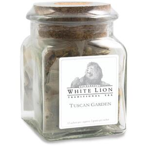 White Lion Tea - Tuscan Garden Tea 12 Count Jar of Pyramid Sachets
