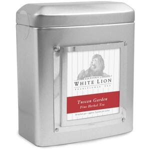 White Lion Tea - Tuscan Garden Tea 18 Count Tin of Pyramid Sachets