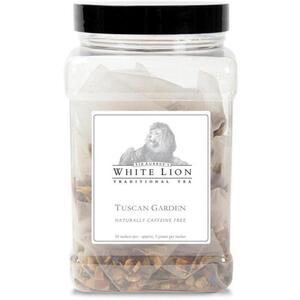White Lion Tea - Tuscan Garden Tea 50 Count Canister of Pyramid Sachets