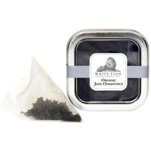 White Lion Tea - Organic Jade Osmanthus Oolong Tea 5 Count Tin of Pyramid Sachets