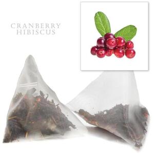 White Lion Tea - Cranberry Hibiscus Tea 12 Count Jar of Pyramid Sachets