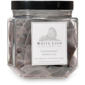 White Lion Tea - Cranberry Hibiscus Tea 50 Count Canister of Pyramid Sachets