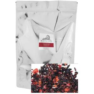 White Lion Tea - Cranberry Hibiscus Loose Tea 1 Lb. Loose Tea in Resealable Bag Loose