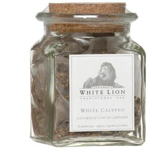 White Lion Tea - White Calypso White Tea 12 Count Jar of Pyramid Sachets