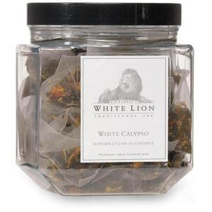 White Lion Tea - White Calypso White Tea 50 Count Canister of Pyramid Sachets