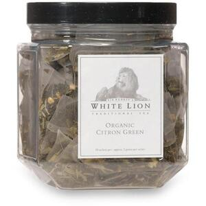 White Lion Tea - Organic Citron Green Tea 50 Count Canister of Pyramid Sachets