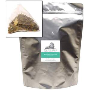 White Lion Tea - White Ambrosia White Tea 50 Count Canister of Pyramid Sachets
