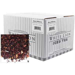 White Lion Tea - Berry Hibiscus Iced Tea 1 oz. Sachets - 72 Count