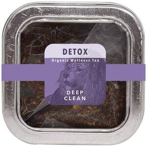 White Lion Tea - Detox (Deep Clean) Tea 5 Count Tin of Pyramid Sachets