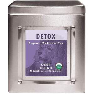 White Lion Tea - Detox (Deep Clean) Tea 18 Count Tin of Pyramid Sachets