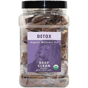 White Lion Tea - Detox (Deep Clean) Tea 50 Count Canister of Pyramid Sachets