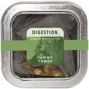 White Lion Tea - Digestion (Tummy Tamer) Tea 5 Count Tin of Pyramid Sachets