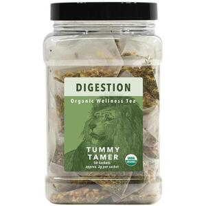 White Lion Tea - Digestion (Tummy Tamer) Tea 50 Count Canister of Pyramid Sachets