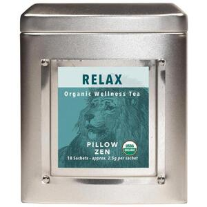 White Lion Tea - Relax (Pillow Zen) Tea 18 Count Tin of Pyramid Sachets