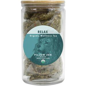 White Lion Tea - Relax (Pillow Zen) Tea 24 Count Jar of Pyramid Sachets
