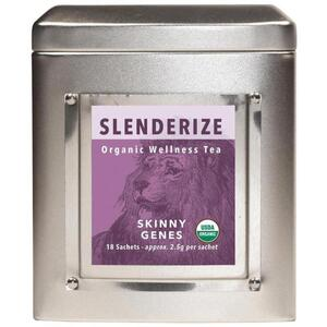 White Lion Tea - Slenderize (Lean Genes) Tea 18 Count Tin of Pyramid Sachets