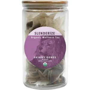 White Lion Tea - Slenderize (Lean Genes) Tea 24 Count Jar of Pyramid Sachets