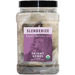 White Lion Tea - Slenderize (Lean Genes) Tea 50 Count Canister of Pyramid Sachets