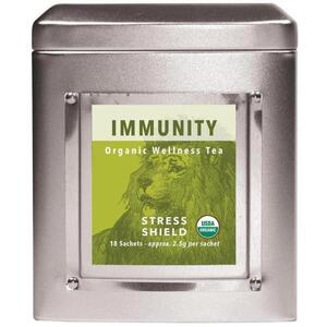 White Lion Tea - Immunity (Stress Shield) Tea 18 Count Tin of Pyramid Sachets