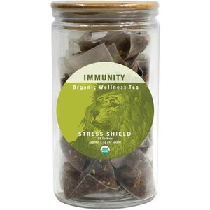 White Lion Tea - Immunity (Stress Shield) Tea 24 Count Jar of Pyramid Sachets