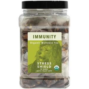 White Lion Tea - Immunity (Stress Shield) Tea 50 Count Canister of Pyramid Sachets