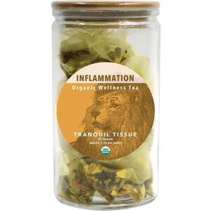 White Lion Tea - Inflammation (Tranquil Tissue) Tea 24 Count Jar of Pyramid Sachets