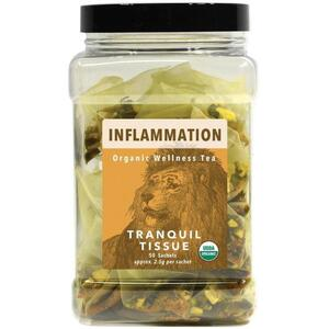 White Lion Tea - Inflammation (Tranquil Tissue) Tea 50 Count Canister of Pyramid Sachets