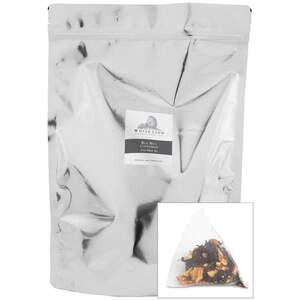 White Lion Tea - Red Hot Cinnamon Black Tea 200 Count Resealable Bag of Pyramid Sachets