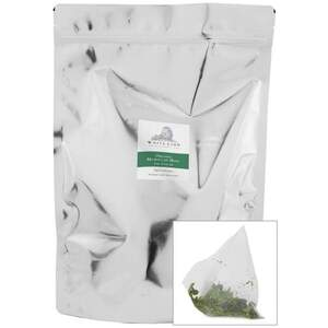 White Lion Tea - Organic Moroccan Mint Green Tea 200 Count Resealable Bag of Pyramid Sachets