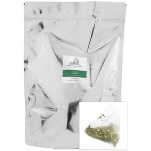White Lion Tea - Green Passion Green Tea 200 Count Resealable Bag of Pyramid Sachets