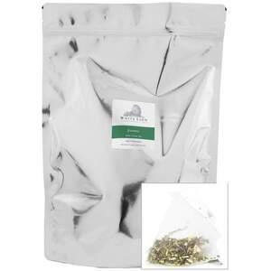 White Lion Tea - Organic Jasmine Green Tea 200 Count Resealable Bag of Pyramid Sachets