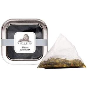 White Lion Tea - White Ambrosia White Tea 5 Count Tin of Pyramid Sachets