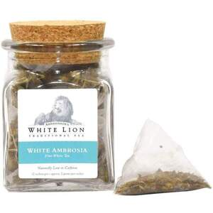 White Lion Tea - White Ambrosia White Tea 12 Count Jar of Pyramid Sachets