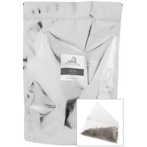 White Lion Tea - Organic Earl Grey Black Tea 200 Count Resealable Bag of Pyramid Sachets