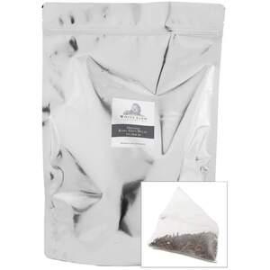 White Lion Tea - Organic Earl Grey Decaffeinated Black Tea 200 Count Resealable Bag of Pyramid Sachets