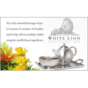 White Lion Tea - Shelf Talker