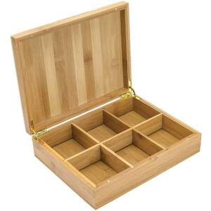 White Lion Tea - White Bamboo 6-Slot Tea Presentation Chest - Tea NOT Included