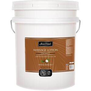 Bon Vital - Coconut Massage Lotion with Pure Fractionated Coconut Oil 5 Gallons - 18.9 Liters
