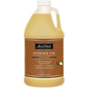 Bon Vital - Coconut Massage Oil with Pure Fractionated Coconut Oil 64 oz. - 12 Gallon - 1.89 Liters