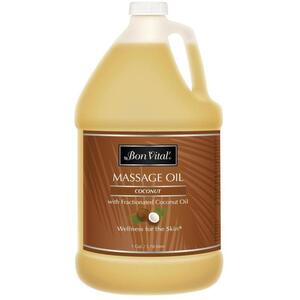 Bon Vital - Coconut Massage Oil with Pure Fractionated Coconut Oil 128 oz. - 1 Gallon - 3.78 Liters