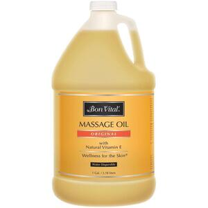 Bon Vital - Original Massage Oil with Natural Vitamin E 64 oz. - 12 Gallon - 1.89 Liters