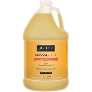 Bon Vital - Original Massage Oil with Natural Vitamin E 128 oz. - 1 Gallon - 3.78 Liters