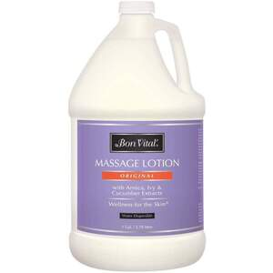 Bon Vital - Original Massage Lotion with Arnica Ivy and Cucumber Extracts 128 oz. - 1 Gallon - 3.78 Liters