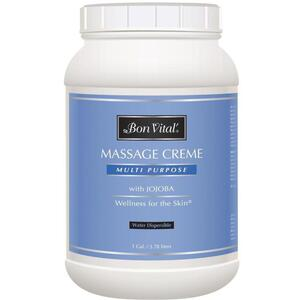 Bon Vital - Multi Purpose Massage Creme with Jojoba 128 oz. - 1 Gallon - 3.78 Liters