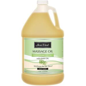 Bon Vital - Therapeutic Touch Massage Oil with Olive Oil 128 oz. - 1 Gallon - 3.78 Liters